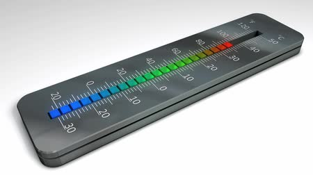 high rises : Thermometer with rising temperature indication. Stock Footage