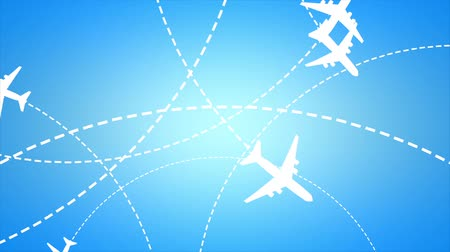 traço : Air traffic concept animation. Matte included.