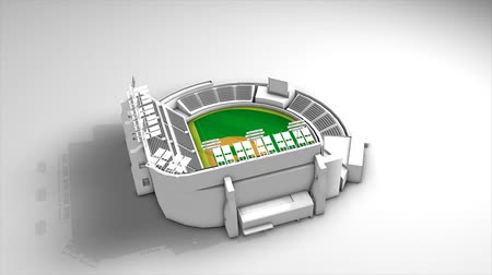 assentos : Baseball stadium, 360 view animation.