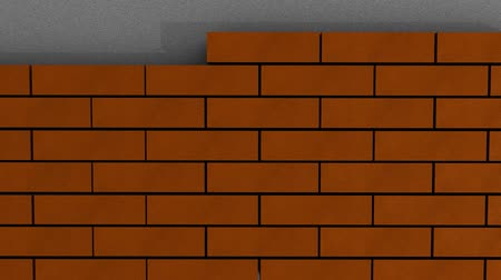 yama işi : Brick wall animation, building.