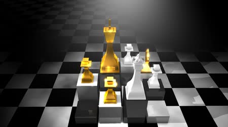 lovagi torna : Chess pieces animation, loop-able, game, board.