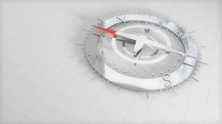 navigational : Compass, concept, shiny, steel, direction, megnetic. Stock Footage