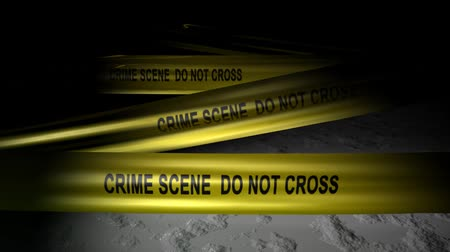 law enforcement : Concept animation, police crime scene tape, no trepass, murder.