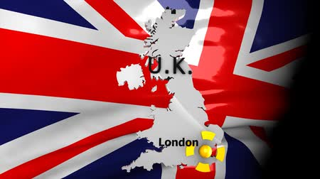 esterlino : Crisis location map series, UK. Stock Footage