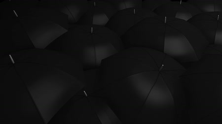congested : Conceptual animation, Crowd with umbrella.