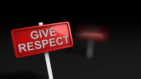 alışkanlık : Give respect earn respect, word, concept.