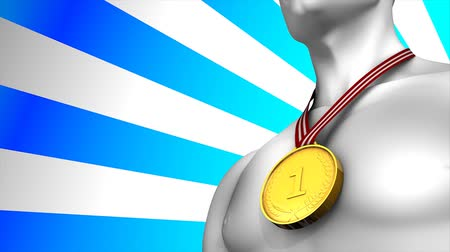 medalha : Concept animation Gold medal winner, matte included.