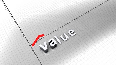 cálculo : Growing value chart graphic animation.