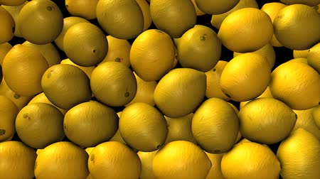 savanyú : Lemon dropping, fruits, fresh, 3d. Stock mozgókép