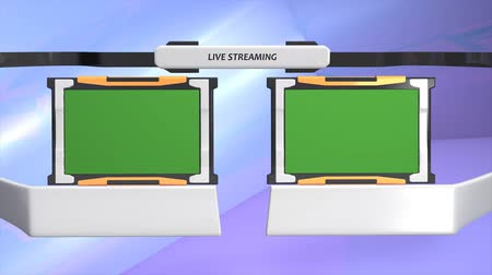 television set : Live streamingbroadband graphic animation. green screen included.