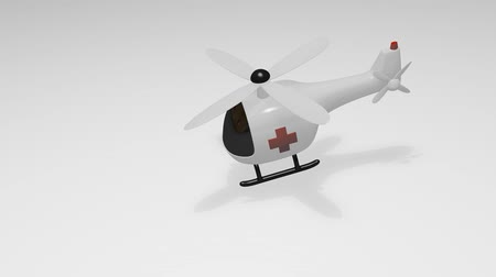 civilní : Funny look medical helicopter, cartoon, hospital, emergency.