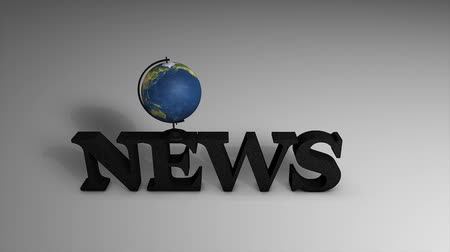 news letter : News text with globe, background, report, correspondence.