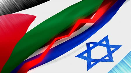 palestina : Palestine Israel conflict concept animation.