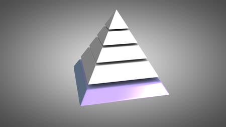 hierarchy : 5 layers pyramid hierarchy animation.