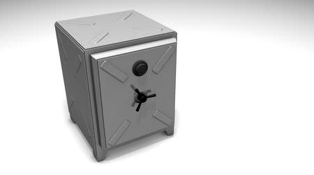 cenný : Safety box animation, safe, money, lock.