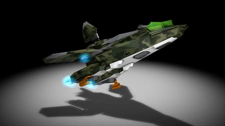 destroyer : Futuristic space super fighter, camouflaged, alpha channel include.