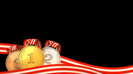 medaille : Sport medals animation for lower 3rd graphic. Matte