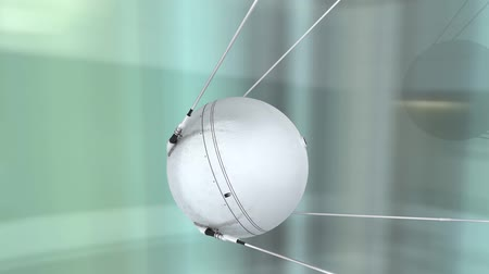 cold war : 1957 Sputnik 1  first artificial earth satellite, space.