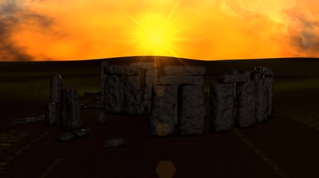reference : Stonehenge ruin view on sunset.