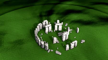доисторический : Artist recreation of Stonehenge ruin.