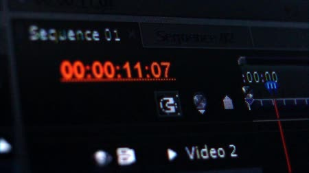 timecode : Timecode, digital, software, hour, minute, second, duration, close up. Stock Footage