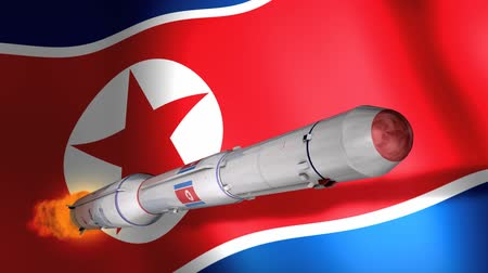 dprk : North Korea DPRK long-range rocket Unha-3.