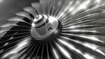 airplane engine : Close up turbine engine front fan, engineering, jet, commercial.