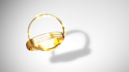 weddings : Wedding rings animtion forming heart shaped shades.