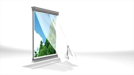 なだめる : Concept 3d animation, window to nature.