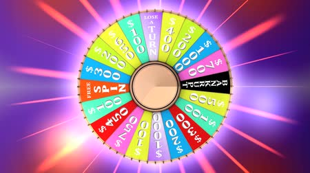 пари : Computer generated, Famous TV gameshow wheel. Стоковые видеозаписи