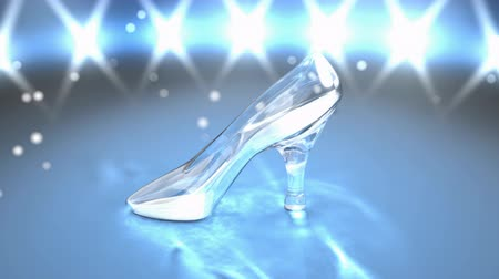 high heel shoe : Computer generated, Crystal shoe fantasy story.