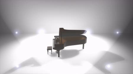 podyum : Computer generated, Majestic piano performance stage spotlights.