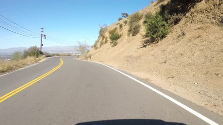 enrolamento : Hyperlapse drive through Mulholland Drive duirng the day
