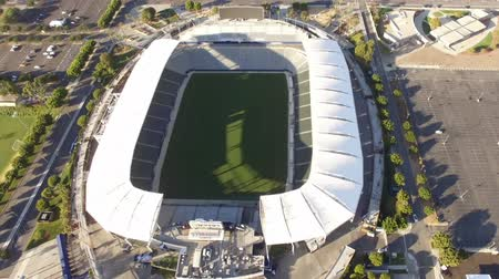 Aerial tilt view of StubHub Center to Carson neighborhood