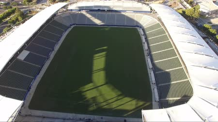 Aerial pedestal up of StubHub Center in Los Angeles