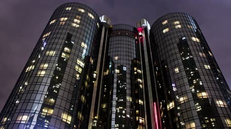Time lapse shot of the St Bonaventure Hotel in downtown Los Angeles