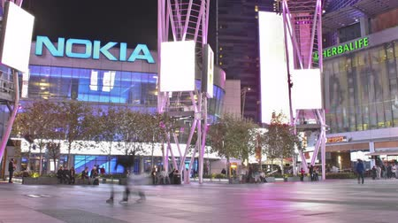 Time lapse of the Nokia Center inside LA Live in Downtown Los Angeles