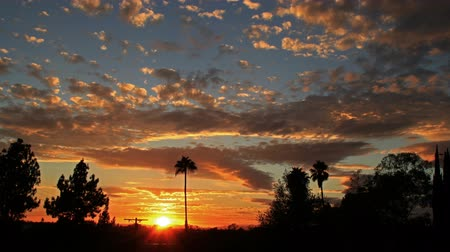 Dramatic southern California sunrise in time lapse Stock Footage