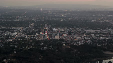 Timelapse above Hollywood after Sunset Stock Footage