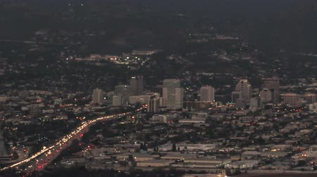 Timelapse above the City of Glendale, CA at dusk