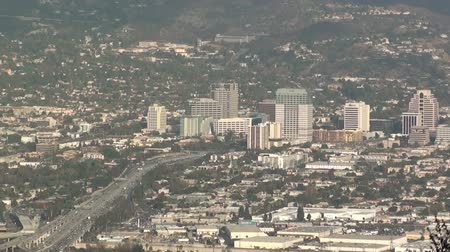 Timelapse above the City of Glendale, CA at rush hour
