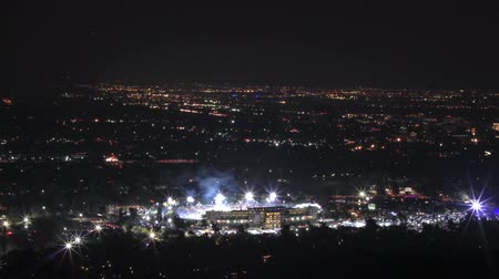 Timelapse above the finish of the 2015 Rose Bowl game in Pasadena, CA