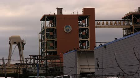 Industrial view of the city of Burbank, CA