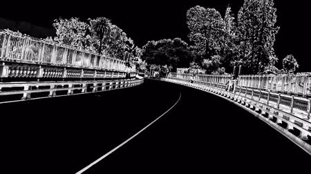 Driving on suicide bridge in CG vision