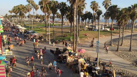 Venice Beach summer weekend in time lapse