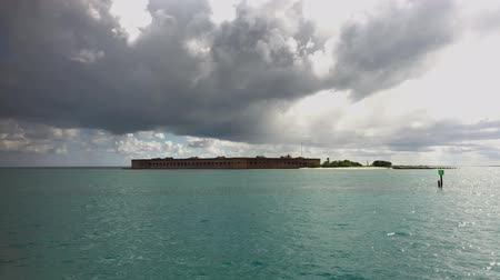 Handheld shot with Fort Jefferson at the Dry Tortugas National Park, Florida Keys