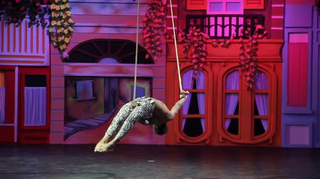 gine : Antalya, Turkey - April 01, 2018: Most Famous Acrobatic Team African Dreams acrobatic show on a popular hotel stage Antalya, Turkey.
