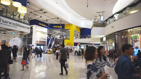 maszat : Smut Prakan , Thailand - December 10,2017 : Unidentified peoples are walking front shop of IKEA Bangkok Store in Mega Bangna, Samut Prakan, Thailand. Ikea is the worlds largest furniture retailer store.Ikea is a slef service furniture store