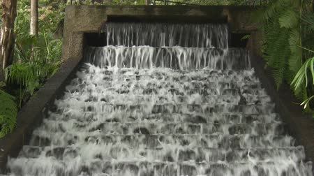 ribeiro : Frothy water flowing down steps in the park