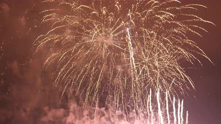 sky bomb : Impressive spectacular final shots of firework display being shot up to the sky Stock Footage